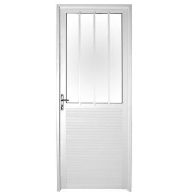 Puerta medio lambriz derecha 80 x 200 cm