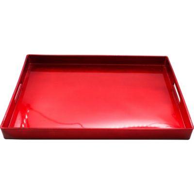 Bandeja de plástico rojo 48 x 35 cm