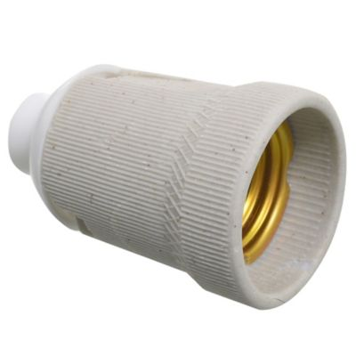 Portalámparas de cerámica con rosca de plástico