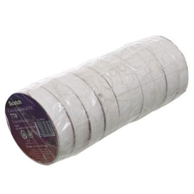 Pack de cinta aisladora de 8 unidades y 2 de regalo 19 mm x 2 m