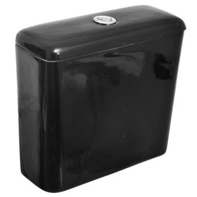 Depósito para inodoro descarga doble Azalea negro