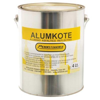 Aluminio asfáltico reflectivo Alumkote 4 l