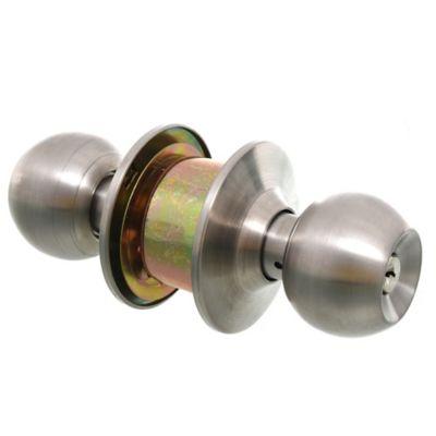 Pomo con llave esfera de acero mate