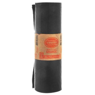 Pack de 10 bolsas de basura negra 80 x 110 cm