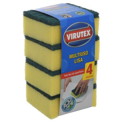 Pack de 4 esponjas multiuso lisa clásica