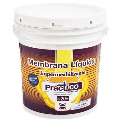 Membrana líquida impermeabilizante Práctico gris 20 kg