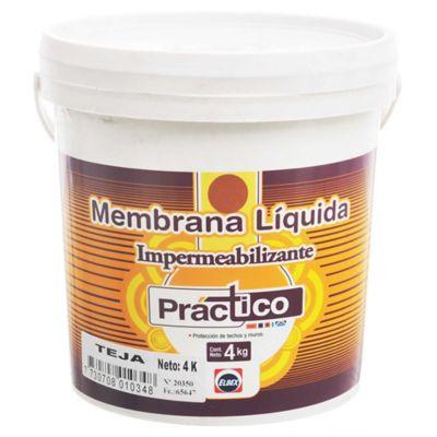 Membrana líquida impermeabilizante Práctico blanco 4 kg