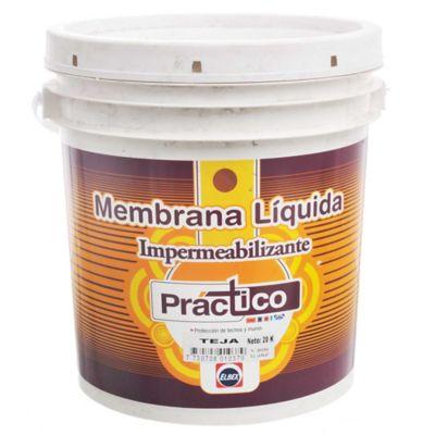 Membrana líquida impermeabilizante Práctico teja 20 kg