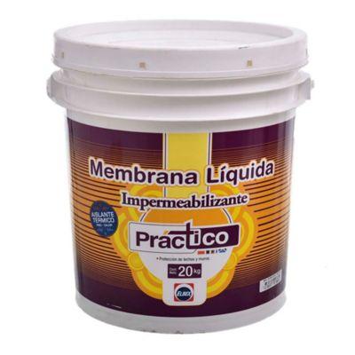 Membrana líquida impermeabilizante Práctico verde 20 kg