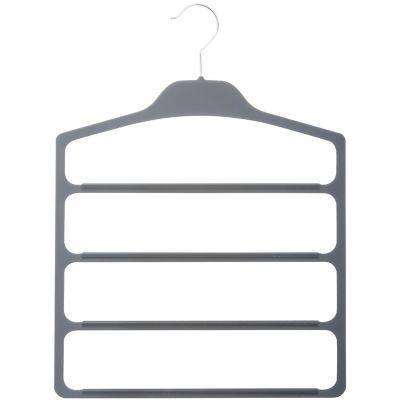Percha con 4 barras de plástico gris