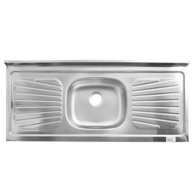 Mesada central de acero 120 x 52 cm