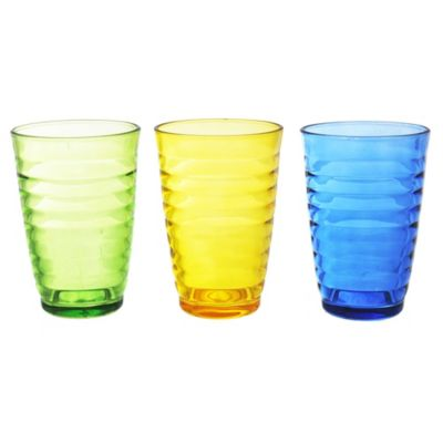 Pack de 3 vasos color Órbita 340 ml