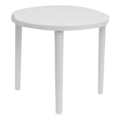 Mesa de jardín Caral de plástico redonda blanca