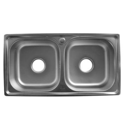 Pileta doble de cocina 78 x 42 cm