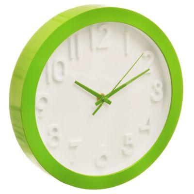 Reloj de pared 3D verde 25 cm