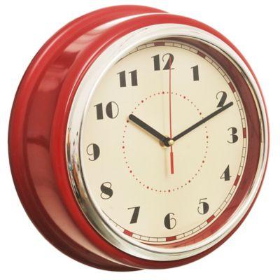 Reloj de pared Chrome rojo 30 cm