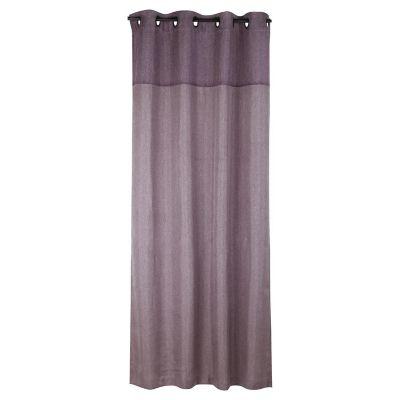 Cortina de tela Lino combinada 130 x 220 cm violeta