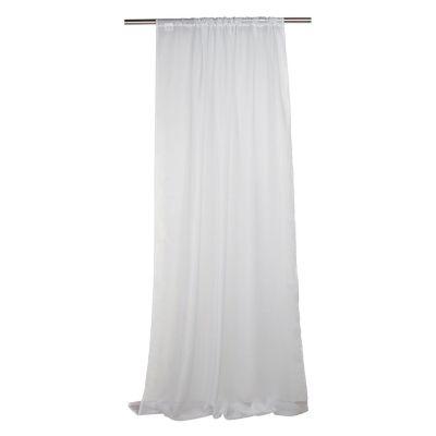 Cortina de tela Velo con pasador 145 x 220 cm blanco
