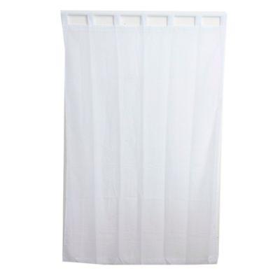 Cortina de tela Velo con presillas 145 x 220 cm blanco
