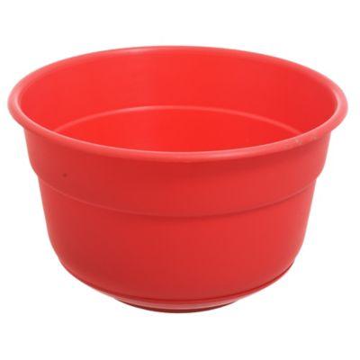 Maceta Bols 21 cm con plato rojo
