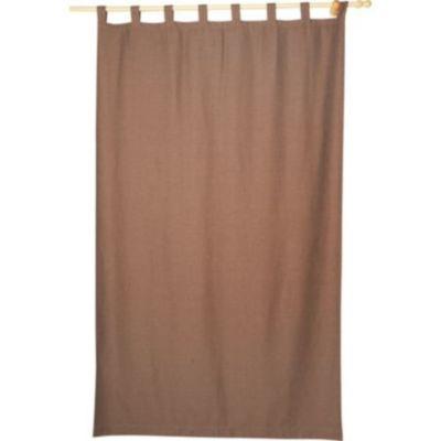 Cortina de tela Black Out 145 x 250 cm chocolate
