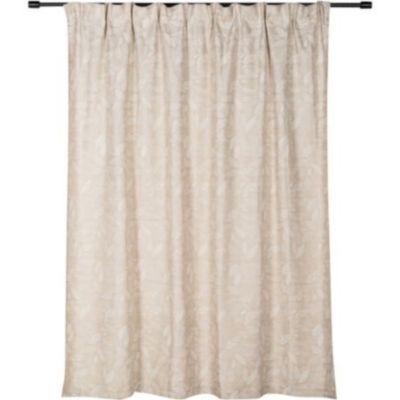Cortina de tela Hojas con pasador 220 x 230 cm beige