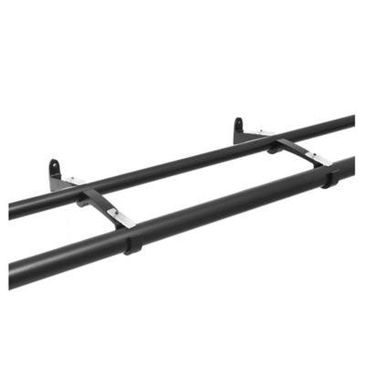 Barral doble de cortina metal negro 112 x 274 cm