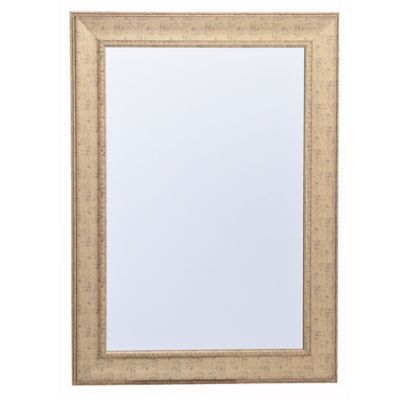 Espejo rectangular dorado 78 x 108 cm