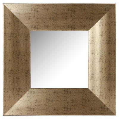 Espejo cuadrado dorado 40 x 40 cm