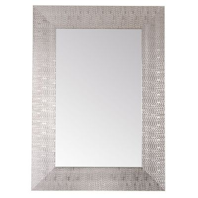 Espejo rectangular plateado 50 x 70 cm