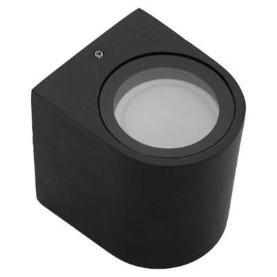 Aplique exterior cilíndrico LED 3 w negro