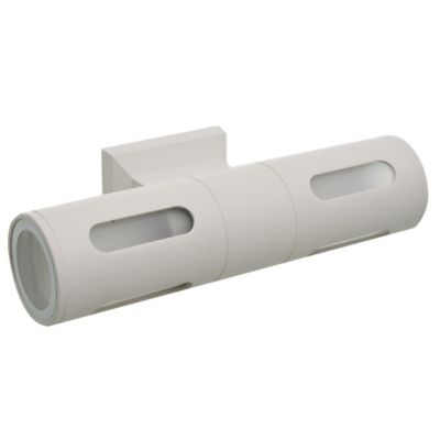 Aplique exterior spot tubular doble blanco E27