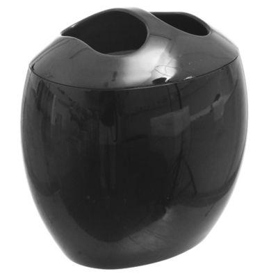 Portacepillo de plástico Spoom negro