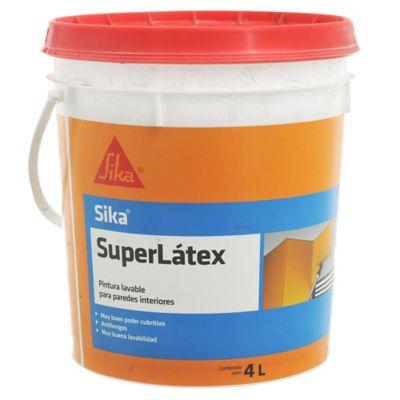 Pintura látex Superlátex lavable interior mate blanco 4 L