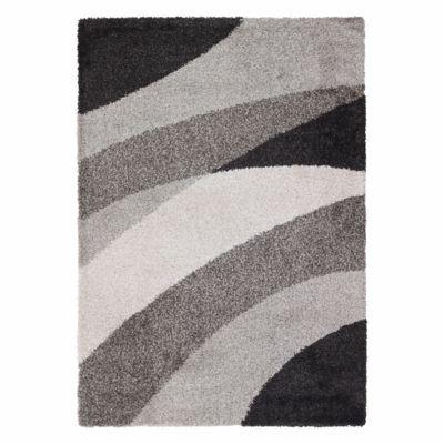 Alfombra Noblese 120 x 170 cm negra y gris