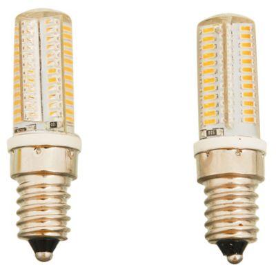 Lámpara led con silicona E14 cálida x 2