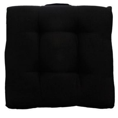 Almohadón para silla 37 x 37 cm negro
