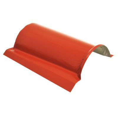 Cumbrera de chapa roja para techos