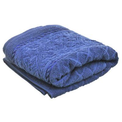Toalla de baño 70 x 140 cm Comforte azul