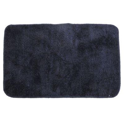 Alfombra de baño de microfibra 40 x 60 cm azul