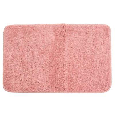 Alfombra de baño de microfibra 40 x 60 cm rosa