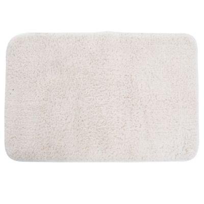 Alfombra de baño de microfibra 40 x 60 cm blanca