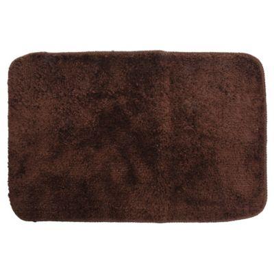 Alfombra de baño de microfibra 40 x 60 cm chocolate