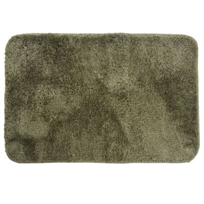 Alfombra de baño de microfibra 40 x 60 cm verde