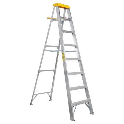 Escalera tijera de aluminio 7 escalones 2.48 m