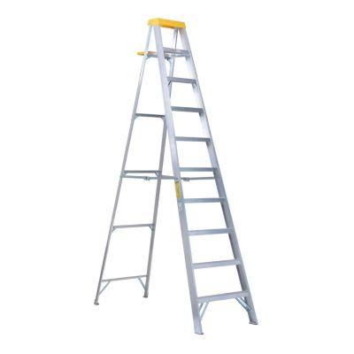 Escalera tijera de aluminio 9 escalones 3,1 m