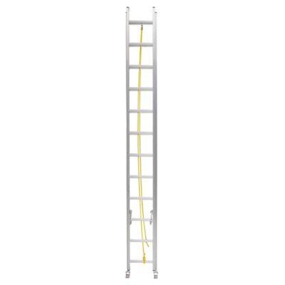 Escalera extensible de aluminio 24 escalones 7,32 m