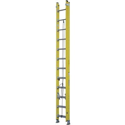 Escalera extensible de fibra de vidrio 24 escalones 7.32 m