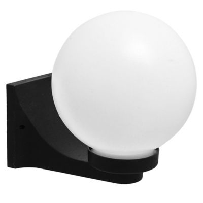 "Aplique de pared Globo 9"" negro"