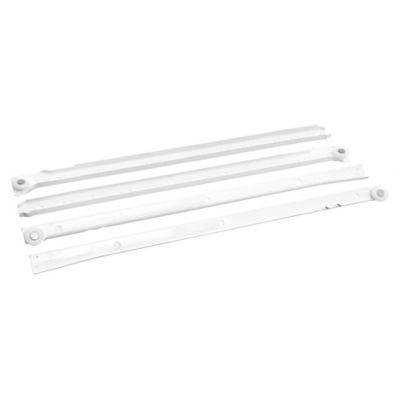 Riel blanco para cajón 35 cm